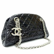 Mademoi Chain Shoulder Bag Women And039s Black Silver Fittings No.9780