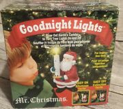 Mr. Christmas Goodnight Lights Blow Out Santa's Candle Turn On Off Tree Lights