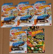 Hot Wheels 2021 Winter Christmas New Years 2022 Full Set Of 5 Holiday Cars