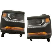 Hid Headlights Lamps Set Of 2 Left-and-right For Chevy Hid/xenon Lh And Rh Pair