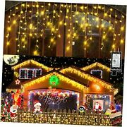 132ft Christmas Lights Decorations Outdoor, 1280 Led 1280 Led 132 Ft Warm White