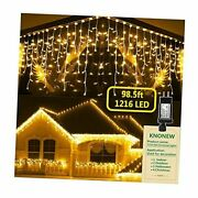 Christmas Lights Outdoor Decorations 1216 Led 99ft 8 1216 Led 99 Ft Warm White
