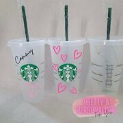 Personalised Frosted Reusable Starbucks Tumbler Cup With Straw Venti Quirky Gift