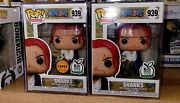 Funko Pop Anime One Piece Shanks Chase And Common With Hard Stack Protector.