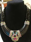 Heidi Daus Signature Accent Collection Bib Necklace All Stones Intact