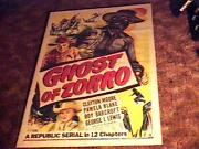 Ghost Of Zorro Movie Poster And03949 Serial Clayton Moore