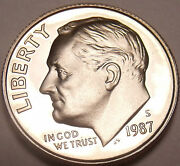 United States 1987-s Proof Roosevelt Dimefree Shippingsee Our Proof Coins