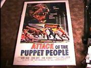 Attack Of Puppet People Movie Poster And03958 Linen Horror