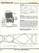 1938 Chevy Model Hb Nos Frame Dimensions Align Specs