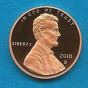 2010 S Proof Lincoln Cent- Gem Proof-deep Cameo