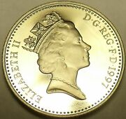 Gem Cameo Proof Gret Britain 1997 10 Pencecrowned Lioncollect The Bestfree Sh