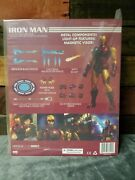 Mezco Toys One12 Collective Iron Man Light Up Chest Metal Features Mint In Box