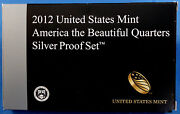 2012-s America The Beautiful Quarters 5-coin Silver Proof Set Mint Box And Coa