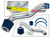 3 Blue Short Ram Air Intake Induction Kit +filter For 92-96 Prelude 2.2/2.3 L4