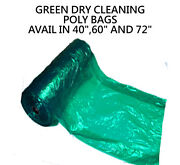 Dry Cleaning Poly Garment Bags 40 Green 440 Bags/roll Great Quality Plastic
