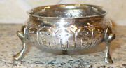 1700and039s Antique Russian Sterling Silver Or Better Salt Dish Cellar