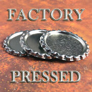 200 Qty - Flat Bottle Caps Factory Pressed Flattened Bottlecap Necklace Jewelry