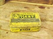 Jc Dills Best Tobacco Tin Paper Inside Intact And Seal Date Of 1910 8 Ounces Empty