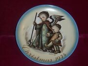 Hummel Collector Plate Christmas 1974 The Guardian Angel Vintage
