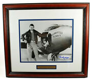Chuck Yeager Bell X-1 Signed Limited Edition Easton Press Coa Framed Rare