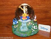 Disneyand039s Stores 1996 Winnie The Pooh Music Box And Snowglobe The Rain Came Down