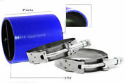 Blue 3 Inch 76mm Silicone 3ply Coupler Hose Turbo Intake Intercooler Chev2