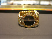 Movado Womens Panther Yellow Gold Plated Watch New Box And Paper Included Wow