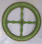Vintage Carnival Game Wheel Of Chance Mid West America With Stand Fundraiser