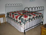 Antique Hairpin Wrought Iron Fence Queen Bed
