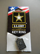 U.s. Army Key Ring - Officially Licensed Product- Made In The Usa- New On Card