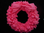 Flower Wreath Silicone Mold Chocolate Polymer Clay Jewelry Soap Wax Resin