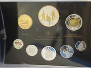 Canada 2012 War Of 1812 Silver Dollar 99.99 Pure Silver 8 Coin Proof Set + Gold