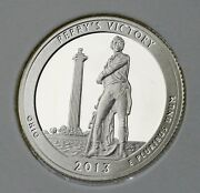 2013 S Perryand039s Victory And Peace Memorial Ohio Silver Proof Quarter Ships Free