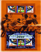 2003 Rugby World Cup - Post Office Pack With Stamps And Mini Sheet