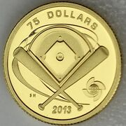 2013 75 Diamond - World Baseball Classic Pure Gold Proof Rare Only 133 Sold
