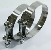2x3 Stainless Steel T-bolt Clamps For Silicone Coupler Intercooler Turbo Intake