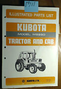 Kubota M5950 Tractor And Cab Illustrated Parts List Manual 07909-52670 8/85