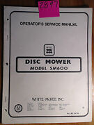 Mckee Sm600 Disc Mower Ownerand039s Operatorand039s Service And Parts Manual 823574