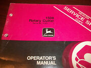 John Deere Tractor Operator's Manual 1508 Rotary Cutter Issue I8