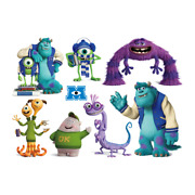 Monster Inc Pixar Disney Sticker Wall Deco Decal Sully Mike Lot Mi