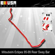 For 95-99 Mitsubishi Eclipe Anti Roll Sway Stabilizer Bar Rear 19mm Red
