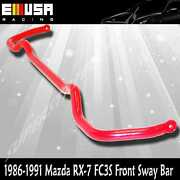 1986-1991 Mazda Rx-7 Rx7 Fc3 Front Anti Roll Sway Stabilizer Bar Red 28mm