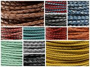 Genuine Round Bolo Braided Leather Cord 3 Mm 1/8 Diy Craft Jewelry Supplies