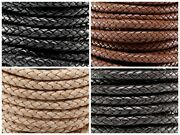 Genuine Round Bolo Braided Leather Cord 8 Mm 5/16 Diy Craft Jewelry Supplies