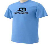 Happy Camper Tents Rvand039s Trailers Camps Camping Campfire Outdoor Activity T-shirt