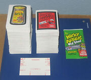Wacky Packages Old School 4 Red Ludlow Back Singles @@ Pick 3 @@  Pack Fresh