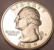 United States Proof 1989-s Washington Quartersee Our Proof Coinsfree Shipping