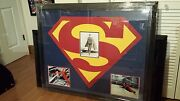 Psa Dna Authentic Superman Christopher Reeve Signed Framed Photo