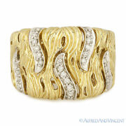 0.29ct Round Diamond Right-hand Thick Fashion Band 14k Yellow And White Gold Ring