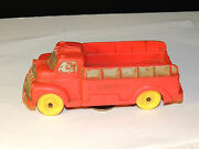 Auburn Red Rubber Fire Truck 518 On Back And Front Fender Plate Area 4829